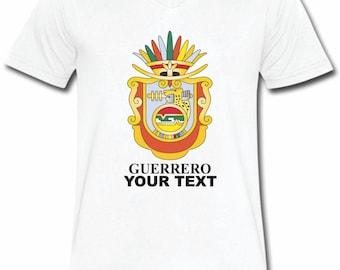 Guerrero  Mexico T-shirt V-Neck Tee Vapor Apparel with a FREE custom text(optional)