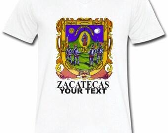 Zacatecas Mexico T-shirt V-Neck Tee Vapor Apparel with a FREE custom text(optional)