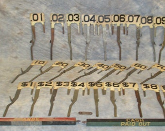 1942 NCR National Cash Register S-636438 Window Price Display Number Part Repair