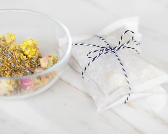 Organic Facial Steam - Floral Steam - Facial Detox Herbs - Organic Facial - Organic Herbal Steam - Gifts for Her - Teacher Gift - Vegan