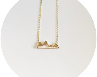 Mountain Range Necklace - Gold