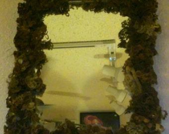 Victorian Mourning Art Mirror