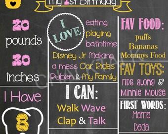 Bumble Bee Birthday Chalkboard - Bumble Bee Birthday - Bumble Bee Chalkboard - Bumble Bee - Birthday Chalkboard - Photo Prop - Printable