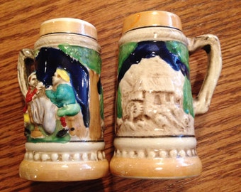Beer Stein salt and pepper shakers