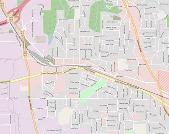 Editable City Map of Forest Park, IL