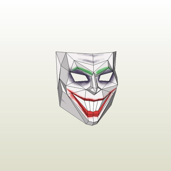 Make your own joker mask by dimons for Joker mask template