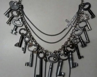 Antique Keys Necklace.