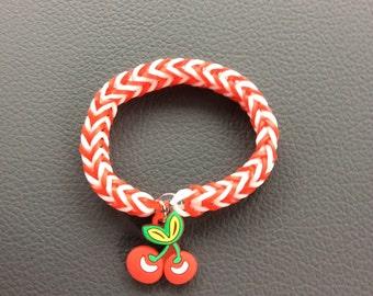 Sweet Cherry Charm Bracelet