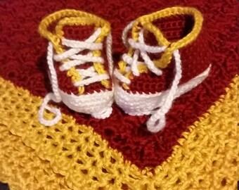 ASU-inspired baby booties