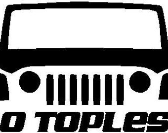 Jeep Decal Sticker Cut Vinyl Topless