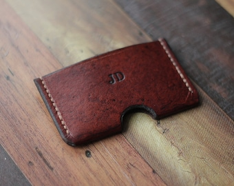 Personalised Leather Card Holder, Card Wallet , Business Card Holder, Minimalist Wallet, Gifts For Him, Leather Card Case