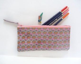 pencil case, cosmetic bag, pochette