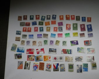 Netherlands collectible stamps set
