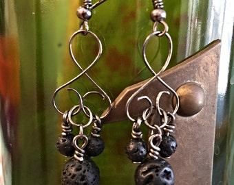Lava Rocks Earrings