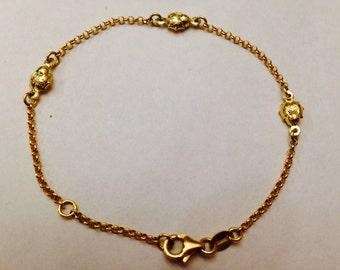 18K Ladybug Bracelet