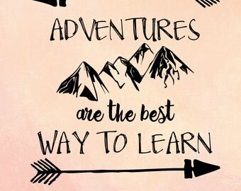 Let The Adventure Begin Poster Graphic Design Word Art