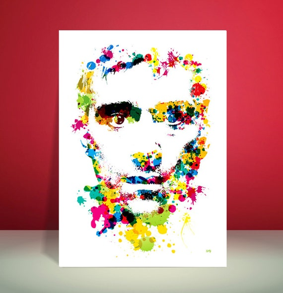 Damon Albarn // Blur // Gorillaz // Paint Splatter Unique A4 / A3 Art Print
