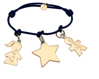Bracelet personalized charms to compose