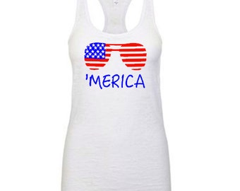 4th of July Racerback tank top