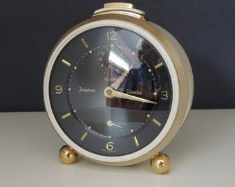 Junghans Trivox Silen romantic * alarm * 50 * rare dial! Super well maintained - fully functional