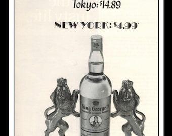 "Vintage Print Ad May 1969 : King George IV Scotch Advertisement Wall Art Decor 5.5"" x 11"""