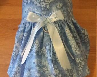 Blue floral dog dress