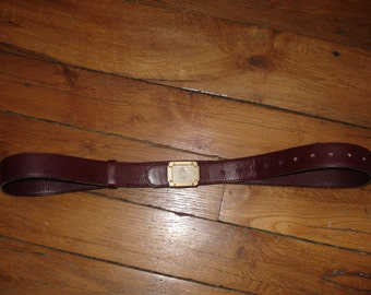 Cartier Burgundy leather belt