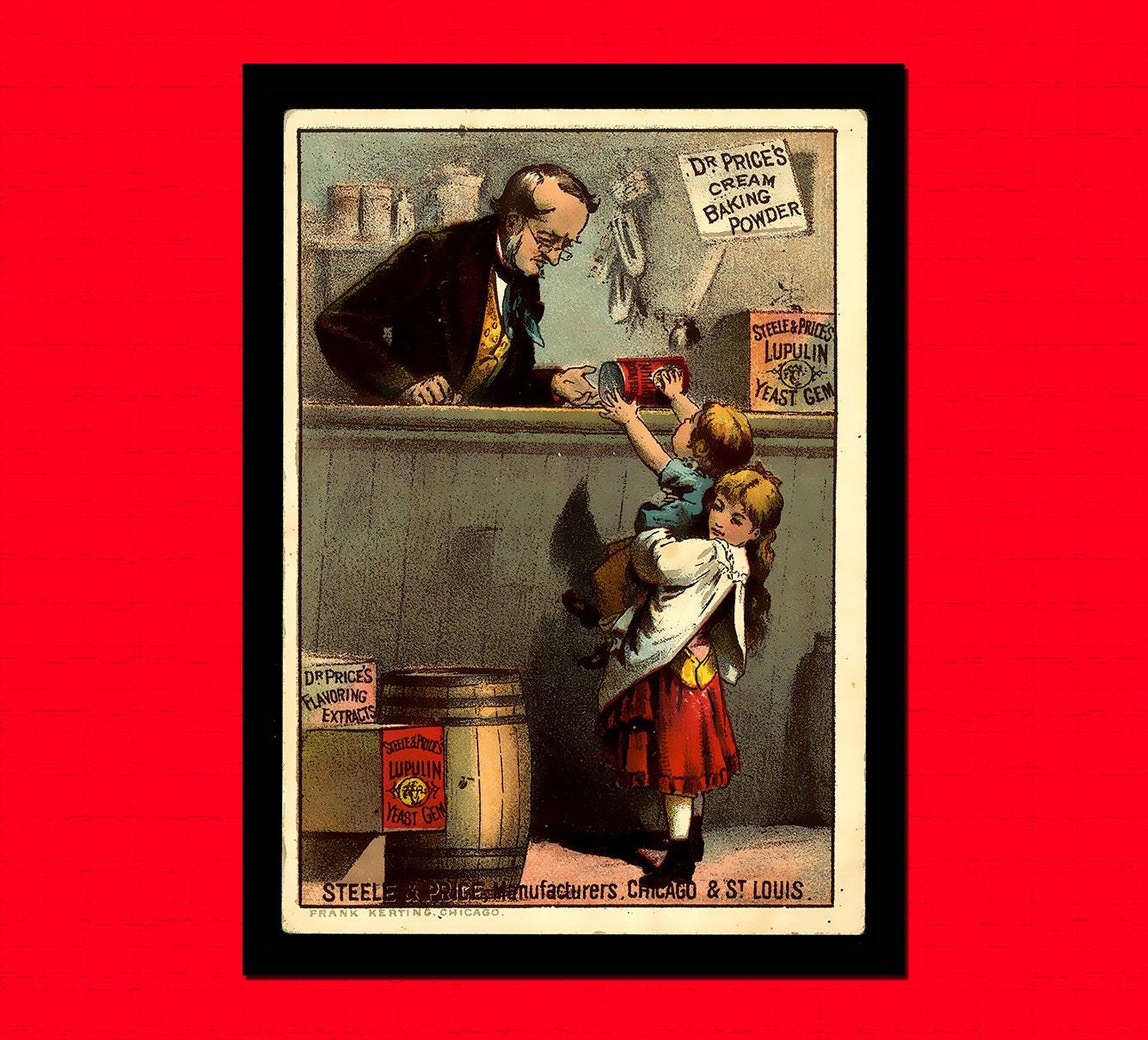 Cuisine vintage poster poudre alimentaire affiche r tro for Affiche cuisine retro