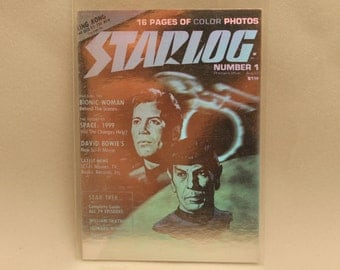 Star Log Vintage Hologram Trading Card Featuring Captain Kirk and Mr. Spock from Star Trek 1993