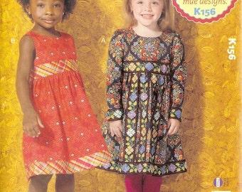 Kwik Sew sewing pattern K0156 (K156) Girls' Dresses, 2 Styles, Girls, Kids, Childrens - new and uncut