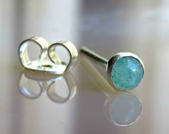 Cartilage Earring Stud / Aventurine Piercing / Tragus Stud