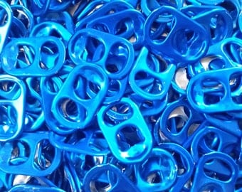 200 Blue Colored Pop Can Tops / Soda Pull Tabs. Perfect for Purses, jewelry, and all other crafts and Projects.