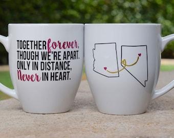 Best Friend Long Distance mug set