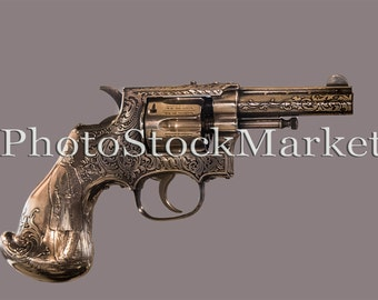 Gun - Antique Pistol PNG - Photoshop overlay - Png cut out - Hand Gun - Cut out