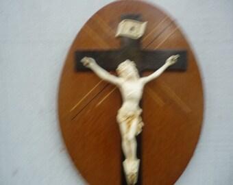 French Religious INRI Jesus Christ  cross crucifixe