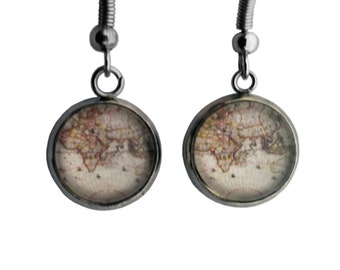 Ancient Map #1 Earrings