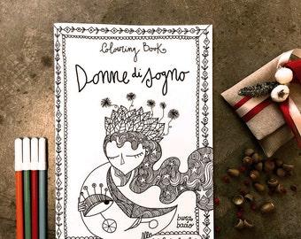 "Colouring Book ""dream girls"". Burabacio coloring books."