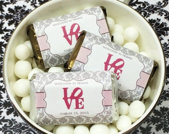 Personalized Chevron Thank You Hershey's Mini Chocolates - Pack of 100