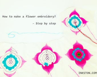 FREE: How to do flower embroidery - a free step by step guide