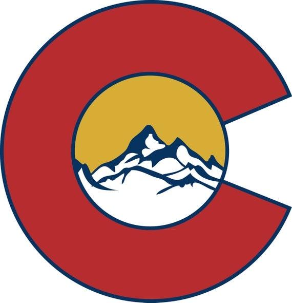 Colorado Images: Colorado State Flag Custom Vinyl Decal Sticker Colorado