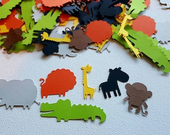 150 piece Zoo Confetti, Zoo Birthday party, Zoo Baby Shower, Confetti