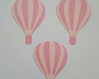 Hotair Balloon Die Cut Set of 3