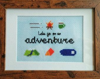 Lets go on an adventure PDF Cross Stitch Pattern