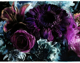 hand coloured floral photographic print #7