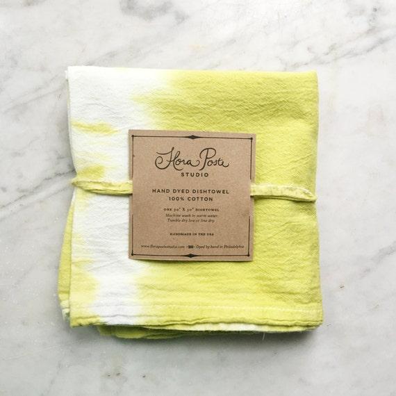 Dish Towel Sale: SALE Discontinued Color. Flour Sack Shibori Dish Towel: