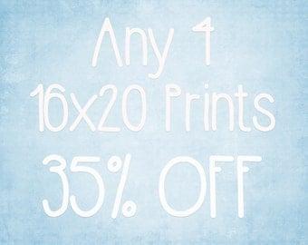 16x20 Prints - Choose any 4 ColorPopPhotoShop Fine Art Photographs