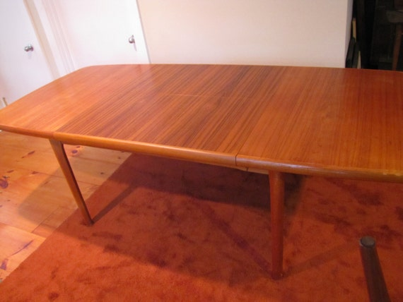 teak dining table danish modern dining table am  made in, Dining tables