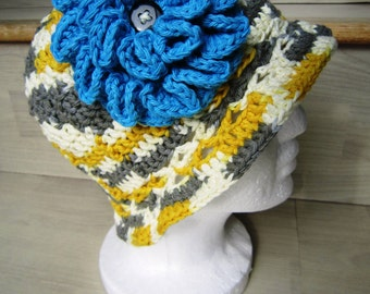 Garden Hat with Large Flower