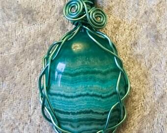 Unique Agate Wirework necklace