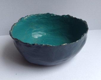 Small paper mache bowl